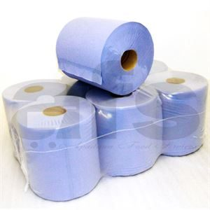 BLUE ROLLS - CENTERFEED [6 PCS]