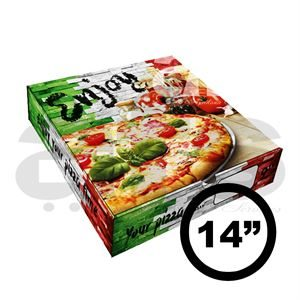 "PIZZA BOX - 14"" ITALIAN WALL [100 PCS]"